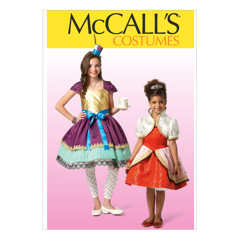 McCalls patrones de costura para MC7036 CHJ tamaños 7/8/10/12/14 para ropa de niños/para niñas e instrucciones para hacer disfraces, blanco: Amazon.es: ...