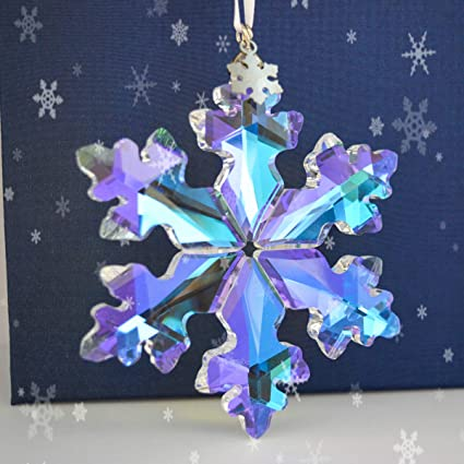 Amazon Com Siyouki 25th Anniversary Crystal Snowflake Pendant