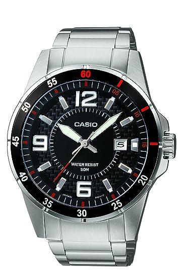 Casio Reloj Analógico para Hombre de Cuarzo con Correa en Acero Inoxidable  MTP-1291D- e41f0d2c56c3