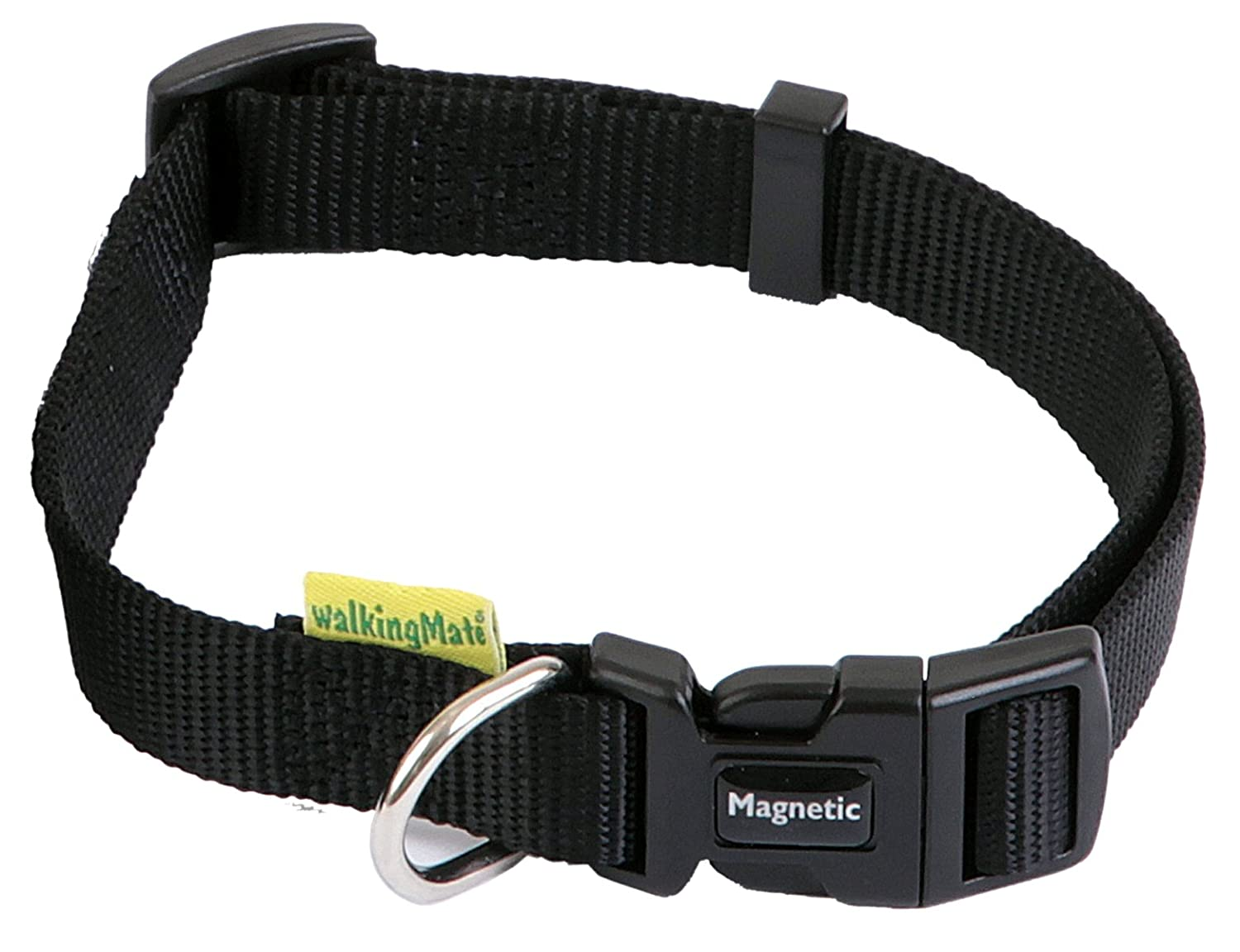 WalkingMate Magnetic Collar, 19mm x 14-20-inch, Black
