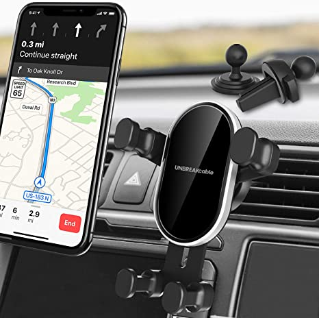 Upone 2018 Car Mount Holder air Vent 360/° Rotation Universal Black auto Lock Gravity for Mobile Cell Phone GPS for Samsung Galaxy s6 s7 s8 note9 for iPhone 8 X 6 7 XS XS MAX XR