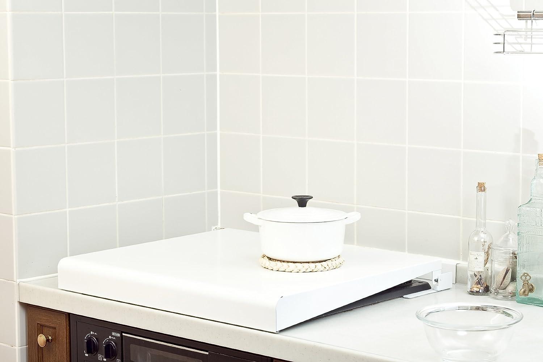 池永鉄工 コンロカバー 60cm ホワイト IK2-60W システムキッチン用(ビルドインコンロ用) B0078YFS0Sホワイト 60cm