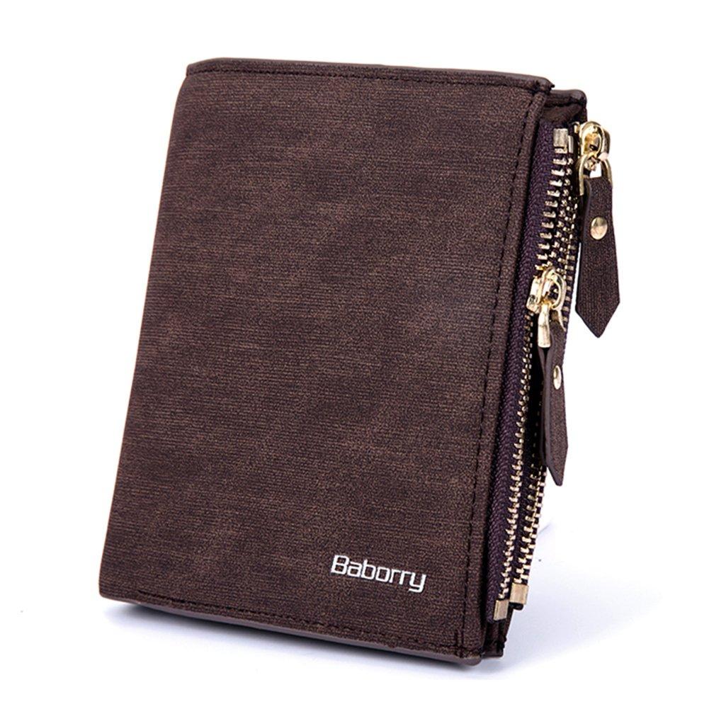 RONSHIN Men Fashion Leisure Multifunction Theft Protect Coin Bag Zipper Wallets Short Type Money Purses Wallets