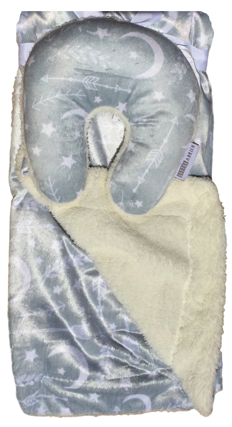 Baby Blankets for Boys With Headrest Pillow Set, Super Soft Micro Mink Blanket, Warm and Cozy and Anti-Pilling With Matching Travel Pillow Set (Arrows)