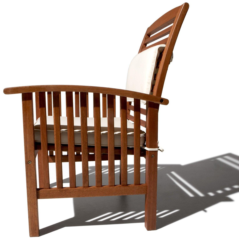 Strathwood Gibranta - Sillón de madera dura (2 unidades, para todo tipo de clima)