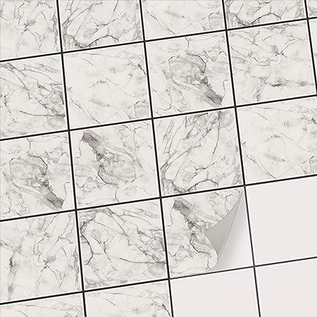 Stickers Carrelage Adhesifs Mosaiques Muraux Pour Salle D Eau Et