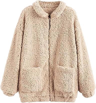 best authentic promo codes promo code ZAFUL Women's Faux Fur Zip Up Long Sleeve Slip Pockets Cozy Fit ...