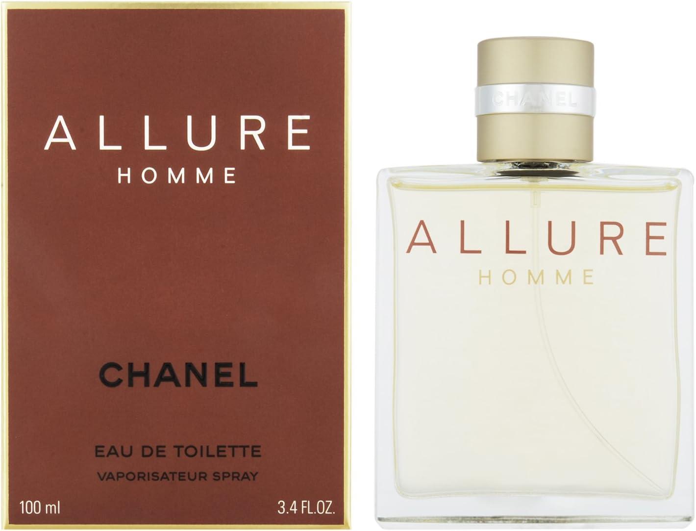 Chanel Allure Homme, Agua de tocador para hombres - 100 ml.