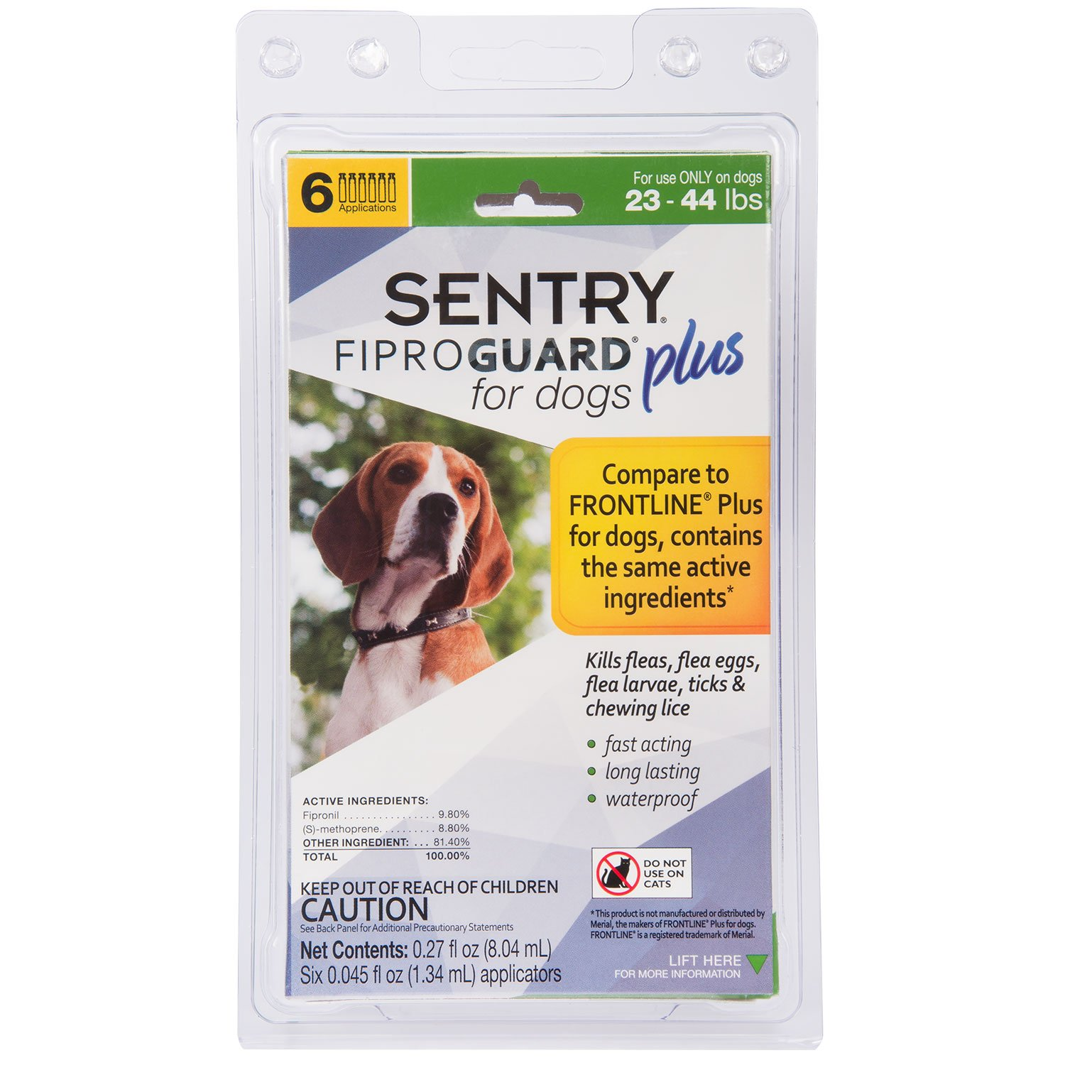 SENTRY Fiproguard Plus for Dogs, Flea and Tick Prevention for Dogs (23-44 Pounds), Includes 6 Month Supply of Topical Flea Treatments by SENTRY Pet Care