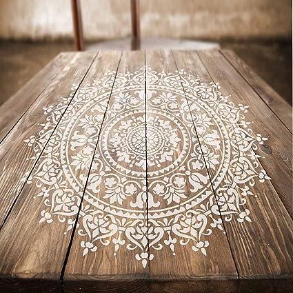 Mandala Stencil Prosperity Reusable Stencils For Walls Stencils - Cutting edge wood floors