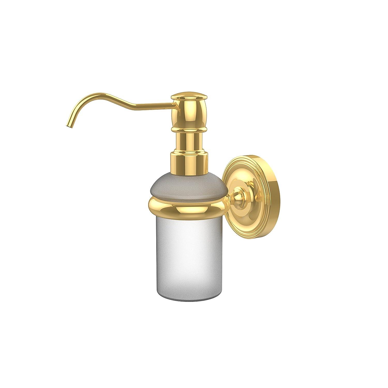 Allied Brass PR-60-ABR Prestige Regal Collection Wall Mounted Soap Dispenser Antique Brass