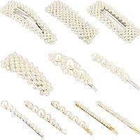11 Piezas de Clips de Pelo Nupcial de Perla Artificial Hebilla de Pelo de Novia Dama de Honor Accesorios para Mujeres