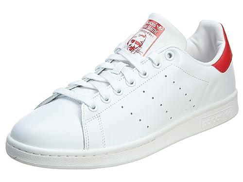 a075fd07243 Adidas Stan Smith para hombre del estilo  M20326-blanco   blanco   rojo  Tamaño  13  Amazon.es  Zapatos y complementos