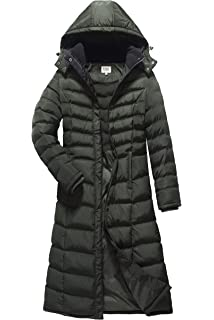 5b939c51314 Amazon.com  ELORA Women s Winter Puffer Mid Length Cargo Pocket Coat ...