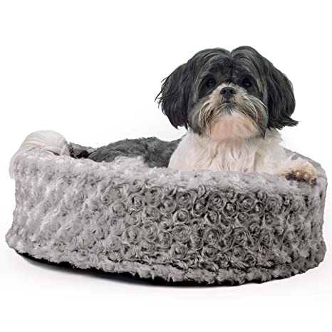 Amazon.com: Cama ovalada para perro o gato Furhaven, Gris ...
