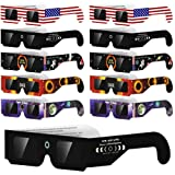 Solar Eclipse Glasses (10 pairs) for the Great American Eclipse 2017 (10 pairs) CE and ISO Certified, Safe Solar Viewing, Viewer and Filter, Eye Protection