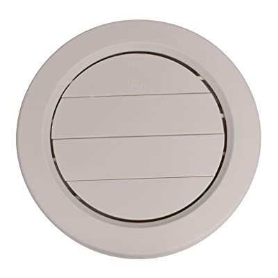"""Valterra A10-3360VP Beige Rotating Heat and A/C Register with Damper (5"""" ID, 7/8"""" Collar): Automotive"""