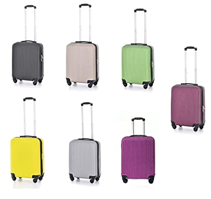 Ryanair 19 Inch Cabin Approved Spinner Case Trolley Hand Luggage Suitcase Bag UK