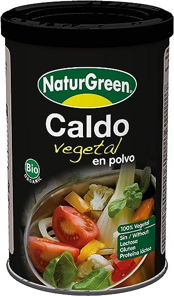 NaturGreen Caldo vegetal de Verduras Bio 200g - Pack de 3 unidades de 200 gr