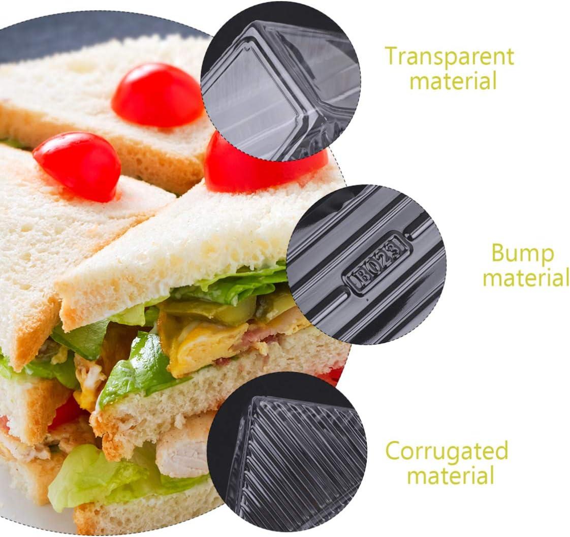 Cabilock Scatola per Sandwich USA E Getta da 100 Pezzi con Coperchio Contenitore per Torta a Triangolo Contenitore per Cupcake Scatole da Forno per Muffin Pasticcini Confezioni per Torte