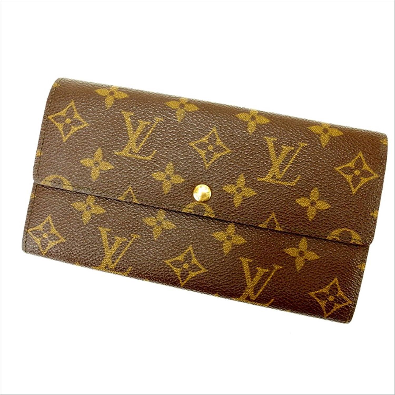 ルイヴィトン Louis Vuitton 長財布 ファスナー 二つ折り ユニセックス ポシェットポルトモネクレディ M61725 モノグラム 中古 人気 美品 Y1430 B0772S8H5Y