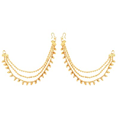 4b5bfb44d19c1 Amazon.com: Jwellmart Indian Bollywood Gold Plated Faux Pearl Ear ...