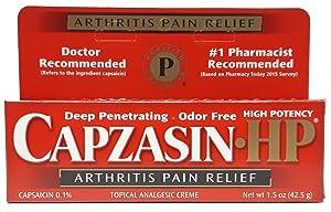 Capzasin-HP Arthritis Relief Topical Analgesic Cream,1.5-Ounce Tube (Pack of 2)