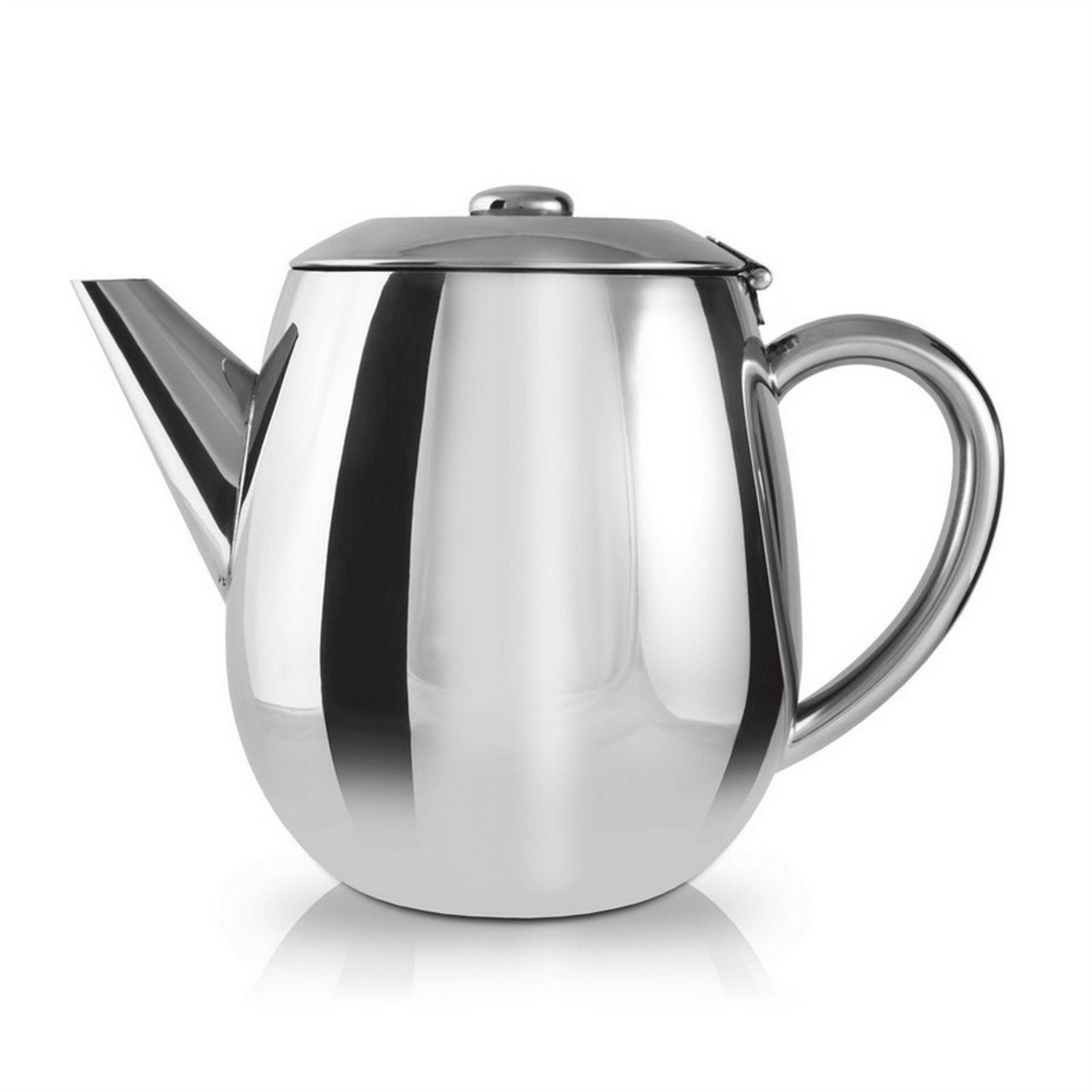 Grunwerg Cafe Ole Everyday Stainless Steel Teapot Tea Pot 1 Litre 35fl oz