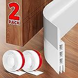 Holikme 2 Pack Door Draft Stopper Under Door Draft Blocker Insulator Door Sweep Weather Stripping Noise Stopper Strong Adhesi
