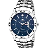 Espoir Stainless Steel Day and Date Blue Dial Analog Mens Watch Nail0507