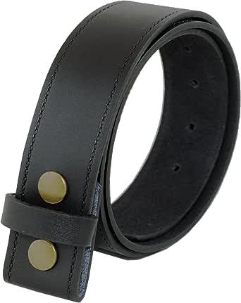 Ossi Ashford canto de cuero real de 40mm de botón de presión broche de presión en la correa en negro o marrón