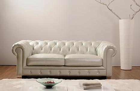 Divano In Pelle Chester.L08 5541 Divano Poltrona Salotto Soggiorno Design Moderno Casa Pelle