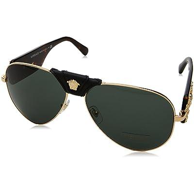 Versace 0VE2150Q 100271, Montures de Lunettes Homme, Or (Gold/Grey Green), 62