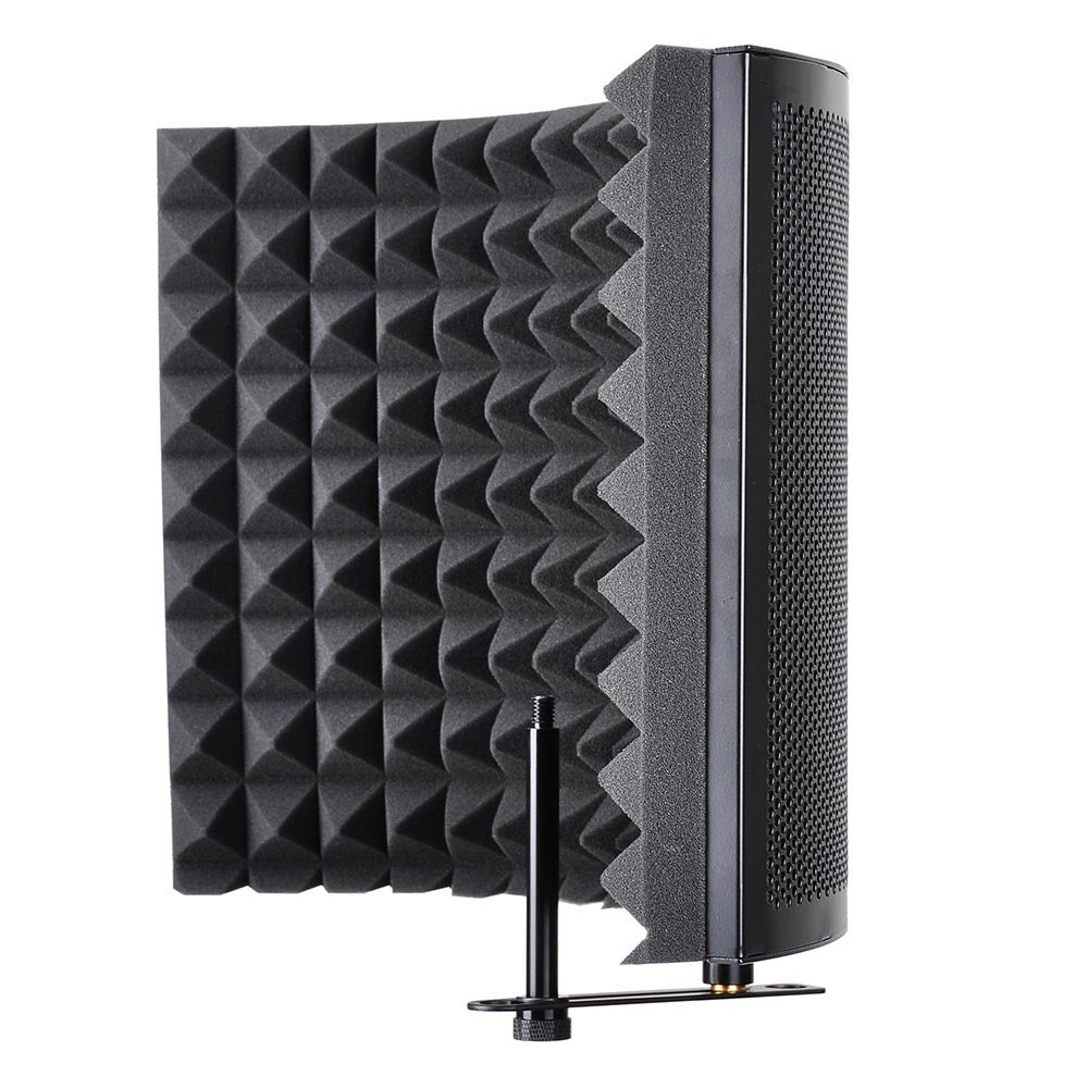 AW Studio Microphone Isolation Shield Acoustic Foam Panel Sound Absorbing Vocal Recording Panel Stand Mount by AW (Image #2)