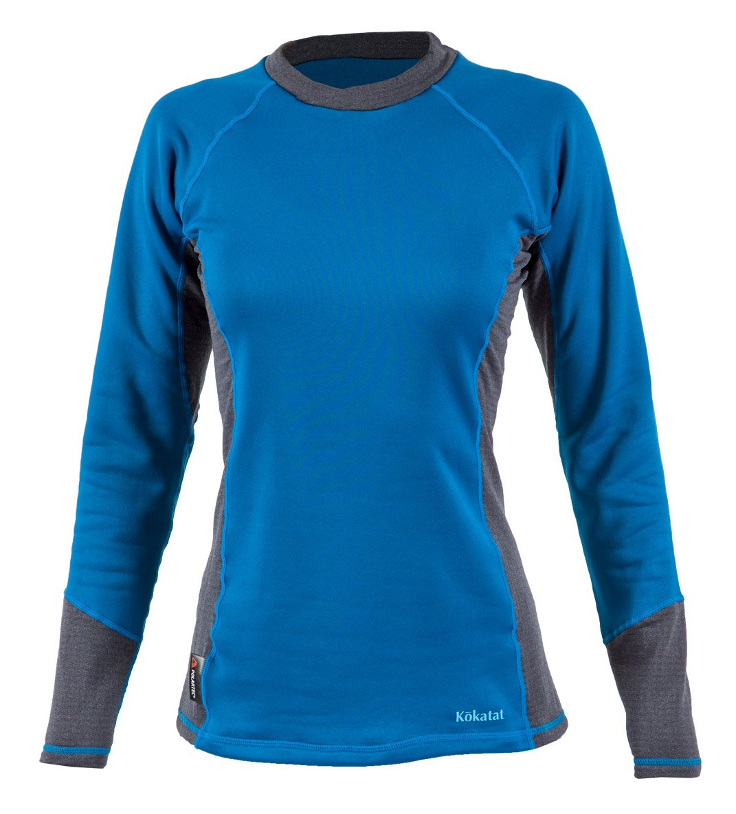 Kokatat Women's Polartec Power Dry Outercore Long Sleeve Shirt-Ocean-L by Kokatat
