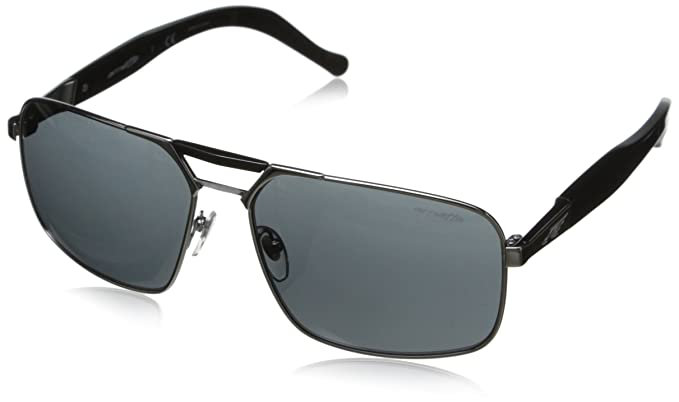arnette  Amazon.com: Arnette Smokey Rectangular Sunglasses,Gunmetal with ...