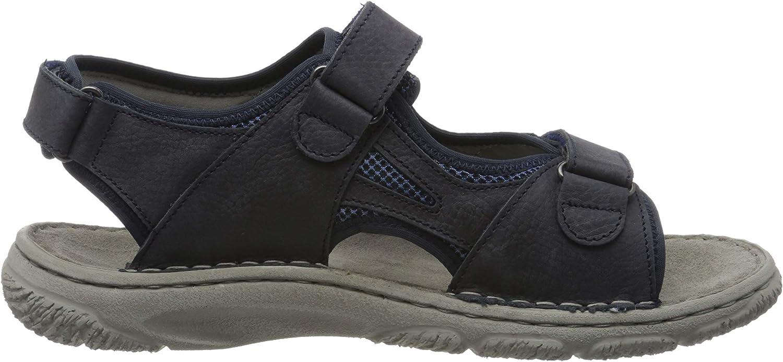 Josef Seibel Men's Carlo 10 Ankle Strap Sandals Blue Dunkelblau Kombi Te170 506