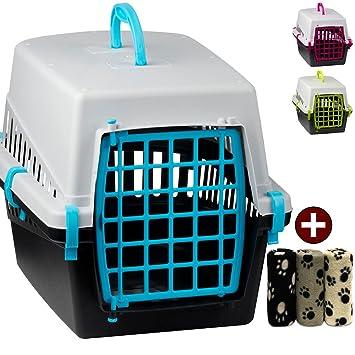 Animales caja de transporte Incluye - Manta para mascotas para perros y gatos Caja de transporte perros y gatos Caja de transporte Auto Caja de transporte: ...