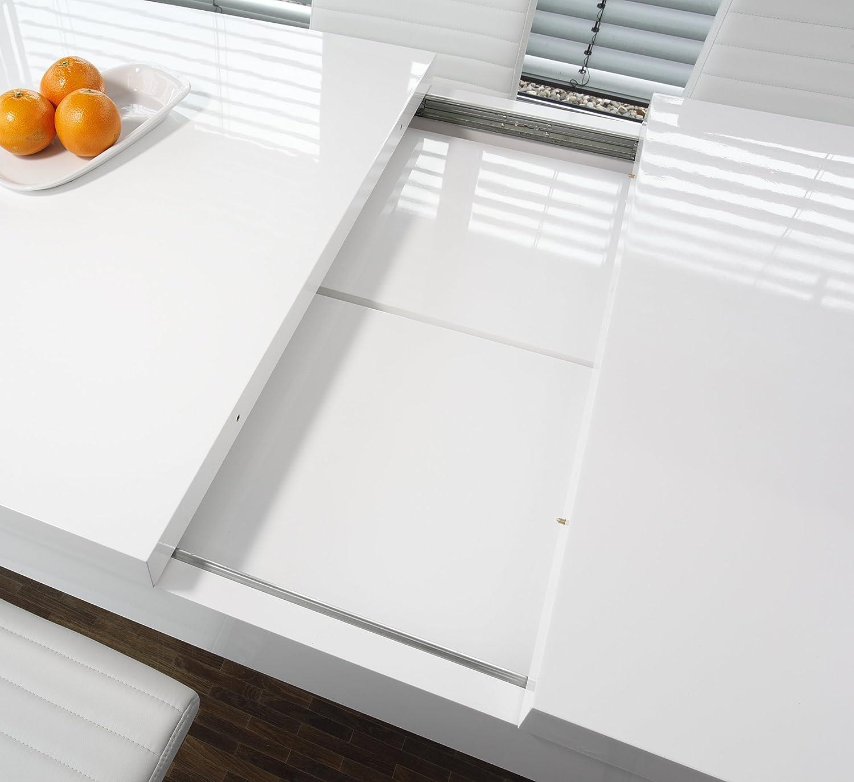 Ess Tisch Weiß Hochglanz Aus MDF 120x80cm Recht Eckig | Luca | Moderner  Küchen Tisch Aus MDF Holz Weiss 120cm X 80cm | Vierfußtisch Hochglanz Weiß  Lackiert ...
