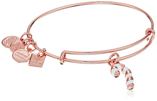 """e640dd9a7 Alex and Ani """"Charity By Design"""" Candy Cane Expandable Wire Bangle  Charm Bracelet"""