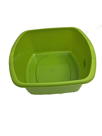 Amazon.com: Plastic Rectangular Washing Up Kitchen Sink Bowl 34 ...