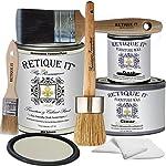 Retique It Chalk Furniture Paint by Renaissance Deluxe Starter Kit, Wax,