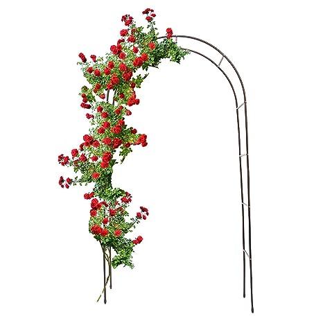 Relaxdays Torbogen Garten Pulverbeschichteter Stahl Rosenbogen Für