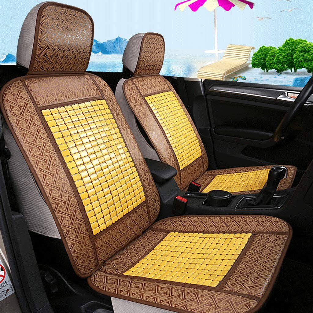 Auto Seat Cushion Bamboo Mat Auto Seat Cover,Summer Surrounded durch Bamboo Breathable Cool Cushion Cushions, Linen Auto Seat Cover (Color : Beige)