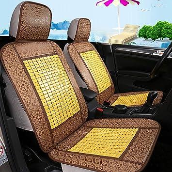 Amazon.com: Cojín de asiento de coche de bambú, funda de ...
