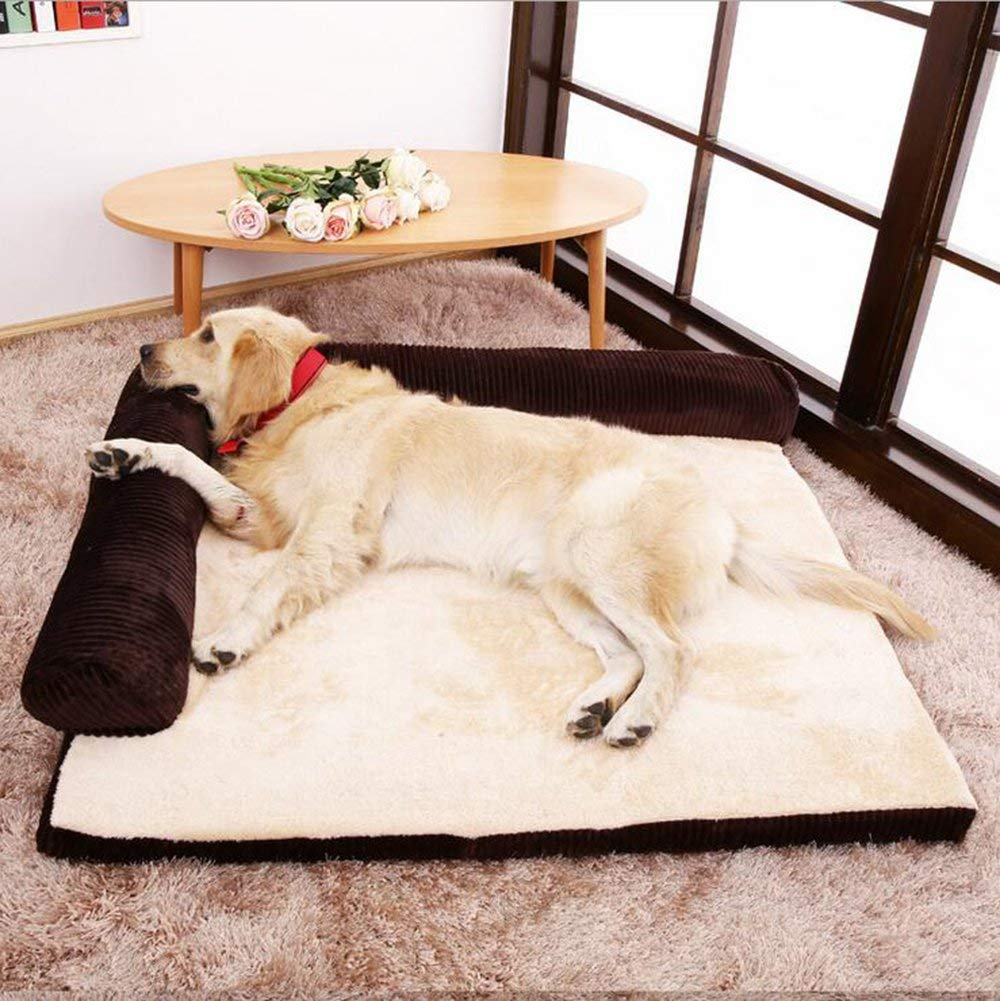 Deepcoffee Large Deepcoffee Large Removable And Washable Pet Bed Non-Slip And Keep Warm Kennel Cat Nest, Four Seasons General Soft Pad for Pets Sleeping (color   Deepcoffee, Size   Large)