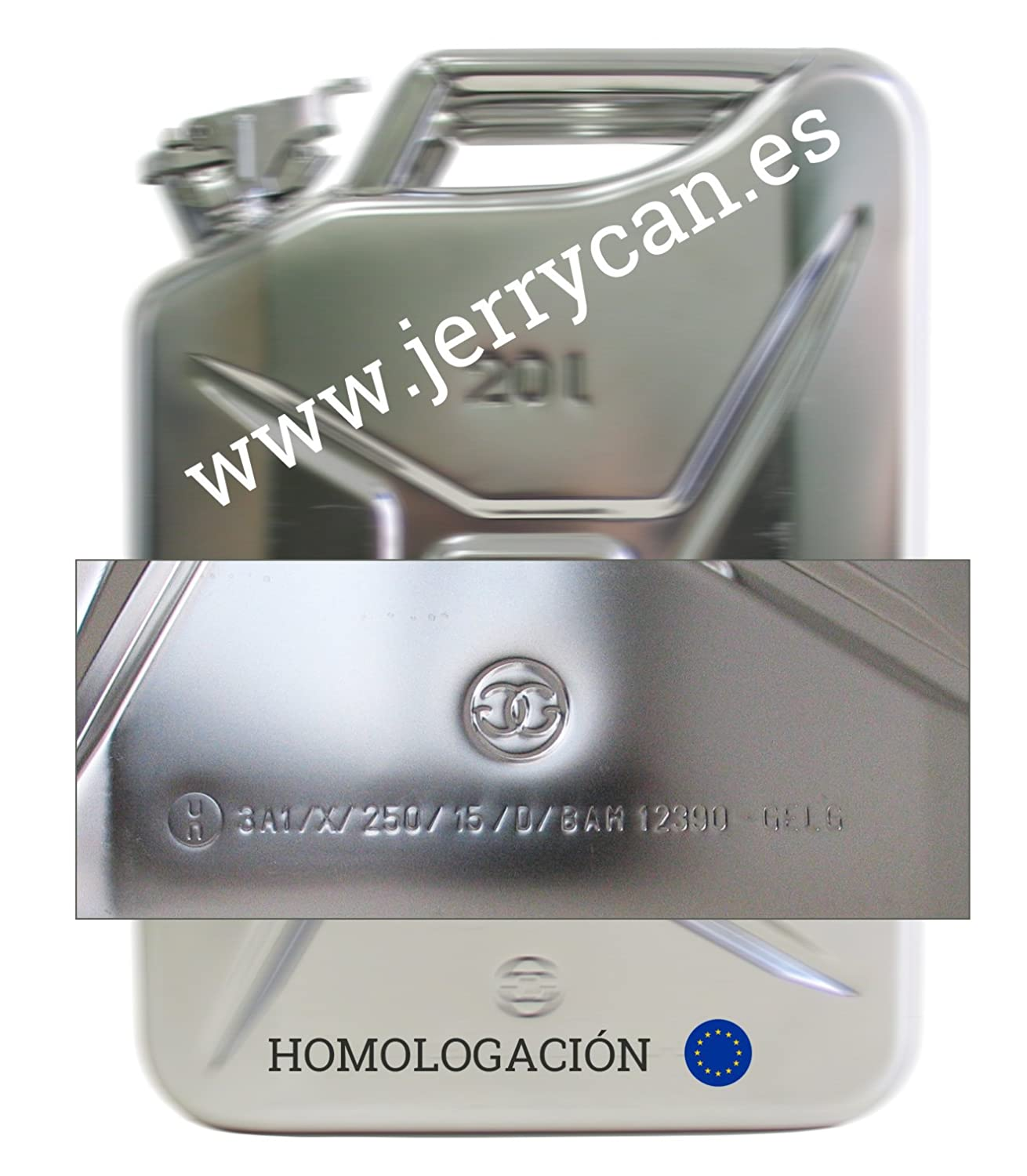 Jerry Can, Drum 20L Stainless Steel Homologated–SPP/jc20ai GELG