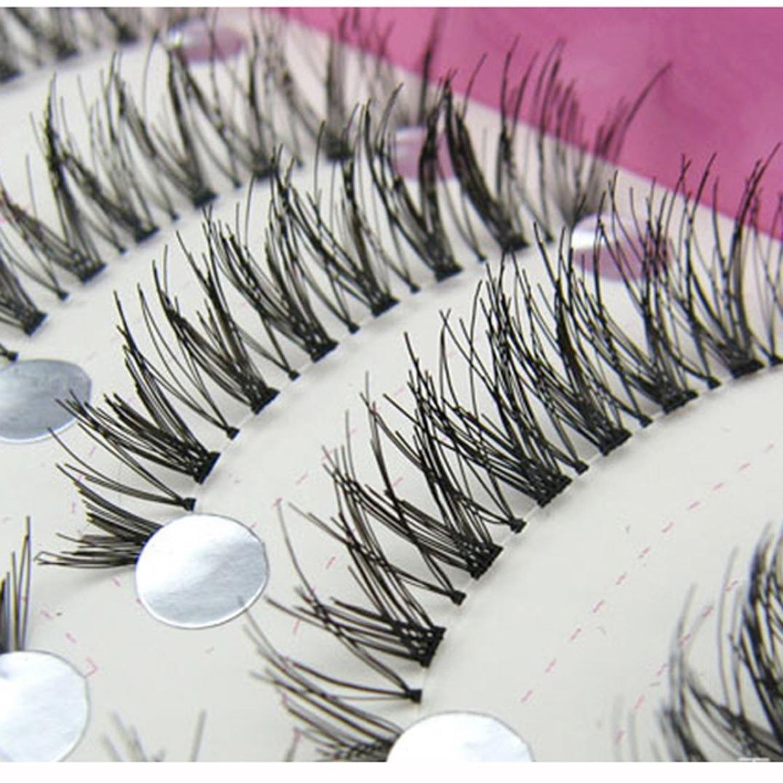 Chartsea Japanese Style Black 10 Pairs Eyelashes (Black) by Chartsea (Image #4)