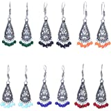 11-Girls Oxidised Silver Jhumkis for Women - Combo of 6