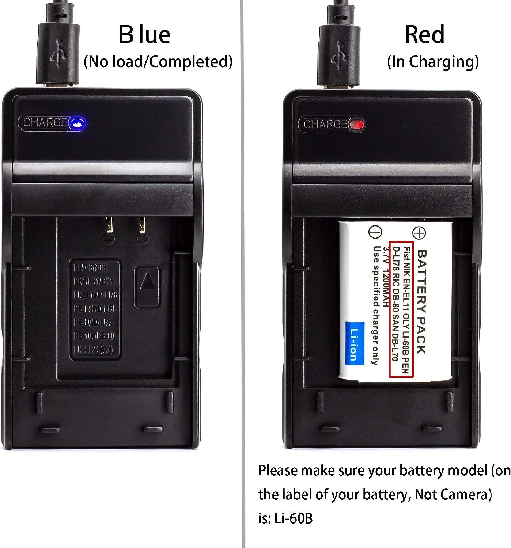 Li 60b Usb Ladegerät Für Olympus Fe 370 Kamera Und Mehr Kamera
